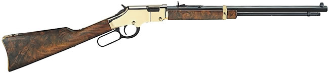 Henry Goldenboy  Rifle H004V, 17 HMR, Lever, 20 in, Walnut Stock, Blue Finish, Brass Receiver, 11 + 1 Rd