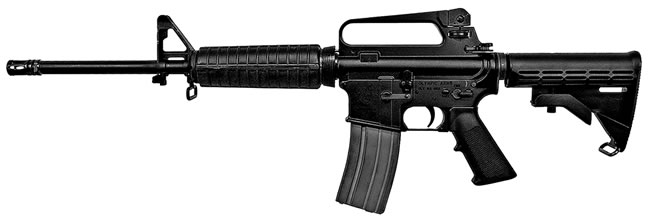 Olympic Arms Model K3B Series Rifle K3B, 223 Remington, Semi-Auto, 16 in, 6 Pt Collapsible Stock, Black Finish, 30 + 1 Rd