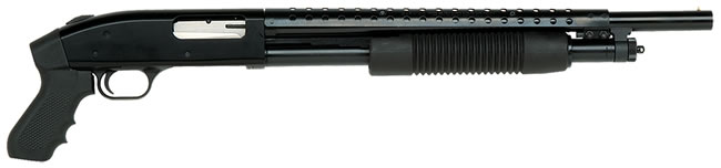 Mossberg Model 500 Special Purpose Shotgun 50440, 12 GA, Pump , 18 1/2 in Cyl Bore BBL, 3 in Chmbr, Black Syn Stock, Black Finish, 5 + 1 Rds, Pistol Grip