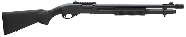 Remington Model 870 Express Tactical Shotgun 81198, 12 GA, Pump , 18 1/2 in BBL, 3 in Chmbr, Black Syn Stock, Black Finish, 6 + 1 Rds, Ghost Ring Sights