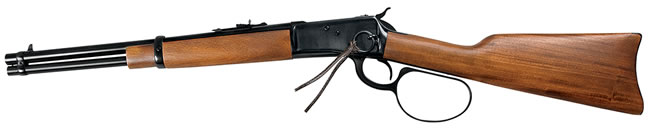 Rossi Model 92 Round BBL Large Loop  Rifle R92-57006, 45 Long Colt, Lever, 16 in, Walnut Stock, Blue Finish, 8 + 1 Rd