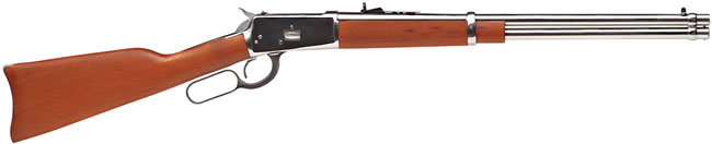 Rossi Model 92 Round BBL  Rifle R92-57011, 45 Long Colt, Lever, 20 in, Walnut Stock, Stainless Finish, 10 + 1 Rd