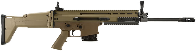 FN Herstal SCAR 17S Carbine 98641, 308 Winchester, 16 in FDE, Semi-Auto, Polymer Stock, Dk Earth Finish, 10 + 1 Rd