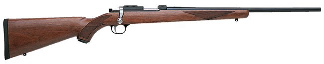 Ruger Model 77/22 Rifle 7002, 22 Long Rifle, Bolt Action, 20 in, Walnut Stock, Blue Finish, 10 + 1 Rd