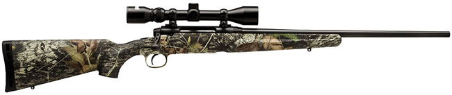 Savage Axis XP Rifle Package 19243, 223 Rem, 22 in, Bolt Action, Camo Syn Stock, Black Finish, 3 + 1 Rd, w/Scope