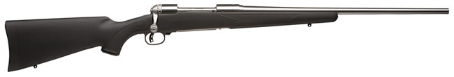 Savage Model 16FCSS Weather Warrior Rifle 18486, 223 Remington, Bolt Action, 22 in, Black Syn Stock, Stainless Finish, 4 + 1 Rd, DBM