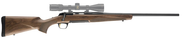 Browning X-Bolt Micro Midas Rifle 035248218, 308 Win, 20 in, Bolt Action, Satin Walnut Stock, Blue Finish, 4 + 1 Rd
