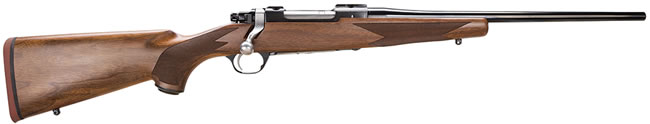 Ruger M77 Hawkeye Compact Rifle HKM77CR 37140, 7mm-08 Rem, 16.5 in, Bolt Action, Walnut Stock, Blue Satin Finish, 3 + 1 Rd