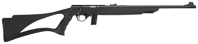 Mossberg Model 802 Plinkster Rifle 38216, 22 Long Rifle, 18 in, Bolt Action, Syn Black Stock, Blued Finish, 11+1 Rds