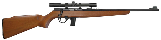Mossberg Model 802 Plinkster Bantam Rifle 38226, 22 Long Rifle, 18 in, Bolt Action, Walnut Stock, Blued Finish, 11+1 Rds