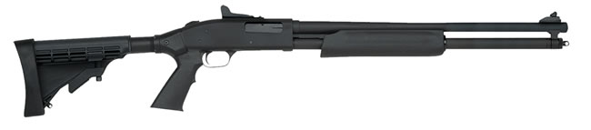 Mossberg Model 500 BANTAM CRUISER/PERSUADER Shotgun 54301, 20 Gauge, 20 in, 3 in Chmbr, Pump-Action, Blk Adj Synthetic Stock, Blued Finish, Ghost Ring Sight, 7+1
