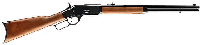 Winchester Model 1873 Short Rifle 534200137, 357 Mag/38 Special, 20 in, Lever Action, Walnut Stock, Blued Finish, 10+1 Rds