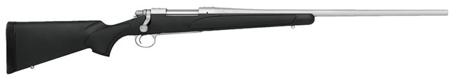Remington Model 700 SPS Stainless Rifle 27265, 7 MM-08 Remington, Bolt Action, 24 in, Black Syn Stock, Stainless Finish, 4 + 1 Rd