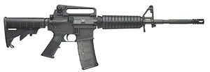 Smith and Wesson MP15 Carbine 811000, 223 Remington, Semi-Auto, 16 in, 6 Pt Collapsible Stock, Black Finish, 30 + 1 Rd