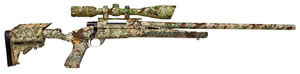 Howa Axiom Rifle HWK96102P+, 22-250 Remington, Bolt Action, 24 in Hvy BBL, Camo Stock, Blue Finish, 5 + 1 Rd, w/Nikko Scope/Base/Rings