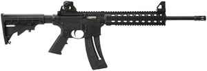 Smith & Wesson M&P 1522 Rifle 811033, 22 Long Rifle, Semi-Auto, 16 in BBL, 6 Point Collapsible Stock, Black Finish, 25+1 Rd