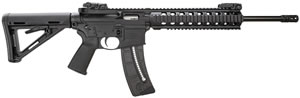 Smith & Wesson M&P 15-22 MOE 811034, 22 Long Rifle, 16 in, Semi Auto, Magpul Adj Buttstock, Black Finish, 25 + 1 Rds