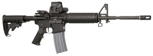 Armalite M-15A4 Post Ban Rifle LEC15A4CBK2, 223 Remington, 16 in, Collapsible Stock, Black Finish, 30+1 Rds