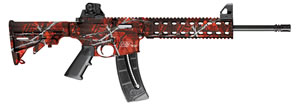"Smith & Wesson M&P 15-22 Rifle 10043, 22 LR, 16.5"" Threaded, Blow-Back Action, 6-Position CAR Stock, Harvest Moon Orange/Black Finish, 25 + 1 Rd"
