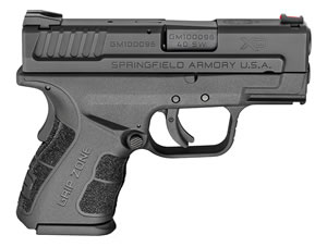 "Springfield XDG9802HCSP XD Mod 2 Sub Compact Pistol, 40 S&W, 3"" BBL, Double Act, Black Polymer Grips, Fib Opt Front, Lo-Profile Rear Sights, Black Finish, 9+1/12+1 Rds"