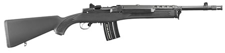 "Ruger Mini-14 Tactical Rifle 5864, 300 AAC Blackout, 16.1"" BBL, Syn Black Stock, Blued Finish, 20+1 Rds"
