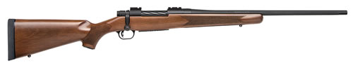 Mossberg Patriot Rifle 27890, 30-06 Springfield, 22 Fluted BBL, Bolt Action, Walnut Stock, Matte Blued Finish, 5+1 Rds