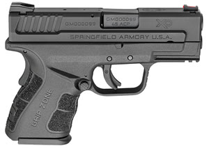 Springfield XD MOD.2 Sub-Compact Pistol XDG9845BHCSP,  45 ACP, 3.3 in BBL, Dbl Act Only, Poly Grips, Black Finish, 9 Rds