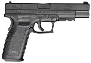 "Springfield XD9621 XD Pistol, 45 ACP, 5"" BBL, Single Act, Black Polymer Grips, 3-Dot White Sights, Melonite Finish Finish, 13+1 Rds, CA Approved, Essential"