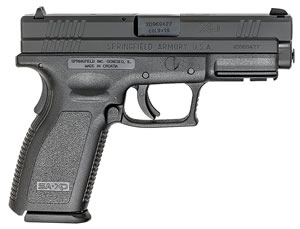 "Springfield XD9301 XD Bi-Tone Pistol, 9mm, 4"" BBL, Single Act, Black Polymer Grips, 3-Dot White Sights, Black Polymer Finish, 16+1 Rds, Essential"
