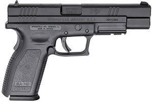 "Springfield XD9401 XD Pistol, 9mm, 5"" BBL, Single Act, Black Polymer Grips, 3-Dot White Sights, Black Polymer Finish, 16+1 Rds, CA Approved, Essential"