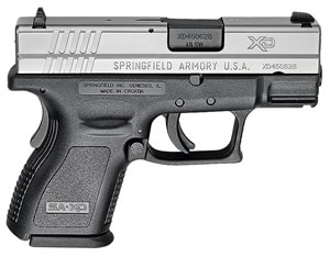 "Springfield XD9822 XD Pistol, 40 S&W, 3"" BBL, Single Act, Black Polymer Grips, 3-Dot White Dovetail Sights, Black Polymer Finish, 9+1/12+1 (Grip Ext) Rds, CA Approved, Essential"