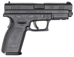 "Springfield XD9302 XD Essential Two-Tone Pistol, 40 S&W, 4"" BBL, Double Act, Black Polymer Grips, 3-Dot Dovetail Sights, Black Finish, 10+1 Rds"