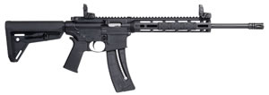 "Smith and Wesson M&P15-22 Sport Rifle 10213, 22 LR, 16.5"" Carbon Steel BBL, Semi Auto, Syn Black Stock, Black Finish, 25+1 Rds"