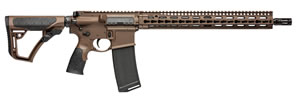 "Daniel Defense DDM4 V11 Rifle 02-151-16191-047, 300 Blackout, 16"" BBL, Semi Auto, 6-Pos Brown Stock, Mil Spec Finish, 30+1 Rds"