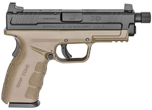 "Springfield XDGT9101FDEHC XD Mod 2 Pistol, 9mm, 4.8"" BBL, Single Act, Flat Dark Earth Polymer Grips, 3-Dot Dovetail, Fib Opt Front, White Dot Rear Sights, Flat Dark Earth Finish, 16+1 Rds"