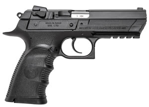 "Magnum Research BE99003RL Baby Desert Eagle III Polymer Full Size Pistol, 9mm, 4.4"" BBL, Single/Double Act, 10+1 Rds"