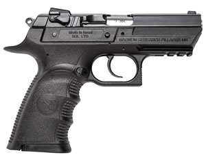 "Magnum Research BE99003RSL Baby Desert Eagle III Polymer Semi-Compact Pistol, 9mm, 3.8"" BBL, Single/Double Act, 10+1 Rds"
