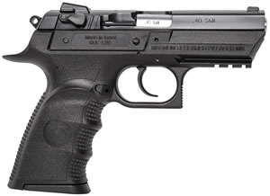 "Magnum Research BE94133RSL Baby Desert Eagle III Polymer Semi-Compact Pistol, 40 S&W, 3.8"" BBL, Single/Double Act, 13+1 Rds"