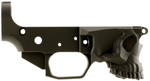 Spikes Tactical STLB520 Stripped Lower Calico Jack Logo AR-15 AR Platform Multi-Caliber Black Hardcoat Anodized