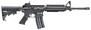 "FN Herstal FN 15 Military Collector Series M4 Rifle 36318, 223 Rem/5.56 NATO, 16"" Chrome-Lined BBL, Semi-Auto, Adj Stock, KAC M4RAS Rail, Black Finish, 30 Rds"