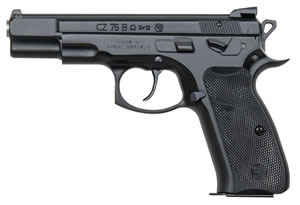 "CZ Model 75 B Convertible Omega Pistol 01136, 9mm, 4.7"" BBL, Double/Single, Plastic Grips, Fixed 3-Dot Sights, Black Finish, Swappable Safety/Decoker, 10+1 Rds"