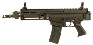 "CZ 805 Bren S1 Pistol 01362, 223 Rem/5.56 Nato, 11"" BBL, Semi-Auto, Poly Grips, Flip-Up Sights, Alum, FDE Finish, 10+1 Rds"