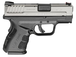 "Springfield XD Mod.2 Sub-Compact Bi-Tone Pistol XDG9821, 9mm, 3"" BBL, Dbl Act, Poly Grips, Fib Opt Front, Lo-Profile Rear Sights, Bi-Tone Finish, 10+1 Rds"