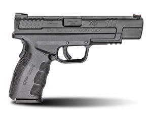 "Springfield XD Mod.2 Tactical Pistol XDG9401BHC, 9mm, 5"" BBL, Dbl Act, Poly Grips, Fib Opt Front/White Dot Rear Sights, Black Finish, 16+1 Rds"