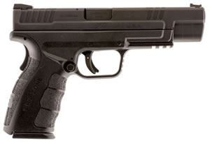 "Springfield XD Mod.2 Tactical Pistol XDG9401B, 9mm, 5"" BBL, Dbl Act, Poly Grips, Fib Opt Front/White Dot Rear Sights, Black Finish, 10+1 Rds"