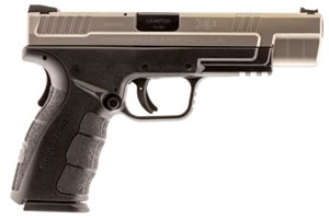 "Springfield XD Mod.2 Tactical Bi-Tone Pistol XDG9401SHC, 9mm, 5"" BBL, Dbl Act, Poly Grips, Fib Opt Front/White Dot Rear Sights, Black Finish, 16+1 Rds"