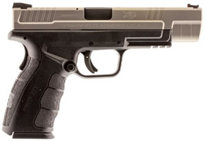 "Springfield XD Mod.2 Tacitcal Bi-Tone Pistol XDG9401S, 9mm, 5"" BBL, Dbl Act, Poly Grips, Fib Opt Front/White Dot Rear Sights, Black Finish, 10+1 Rds"