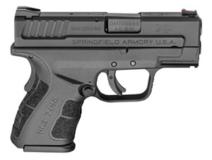 "Springfield XD Mod.2 Sub-Compact Pistol XDG9802HC, 40 S&W, 3"" BBL, Dbl Act, Poly Grips, Fib Opt Front, Lo-Profile Rear Sights, Black Finish, 9+1/12+1 (Grip Extension) Rds"