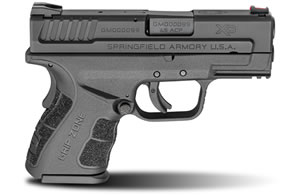 "Springfield XD Mod.2 Sub-Compact Pistol XDG9845BHC, 45 ACP, 3.3"" BBL, Dbl Act, Poly Grips, Fib Opt Front, Lo-Profile Rear Sights, Black Finish, 9+1/13+1 (Grip Ext) Rds"