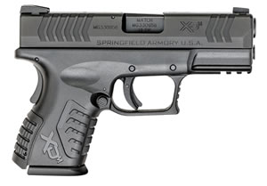 "Springfield XDM 3.8"" Compact Pistol XDM9384CBHCE, 40 S&W, 3.8"" BBL, Dbl Act, Poly Grips, 3-Dot Dovetail Sights, Black Finish, 11+1/ 16+1 (Grip Ext) Rds"